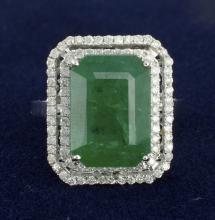 Emerald & Diamond Ring Appraised Value: $15,250