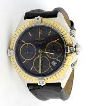 Breitling Jetstream Windrider 18K Gold Bezel Mens Watch *Replaced strap*