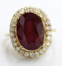 Ruby & Diamond Ring Appraised Value: $4,695