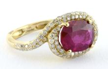Ruby & Diamond Ring Appraised Value: $3,330