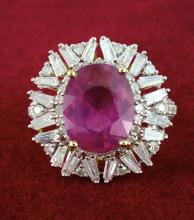 Ruby & Diamond Ring Appraised Value: $6,570