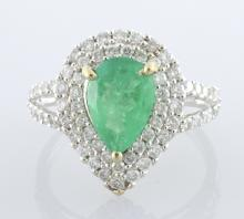 Emerald & Diamond Ring Appraised Value: $4,550