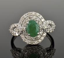 Emerald & Diamond Ring Appraised Value: $4,544
