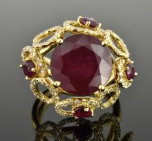 Ruby & Diamond Ring Appraised Value: $8,483
