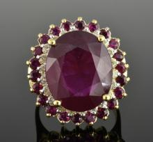 Ruby & Diamond Ring Appraised Value: $4,495
