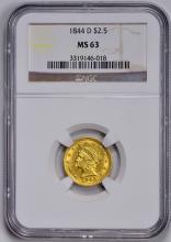 1844-D LIBERTY $2 1/2