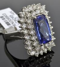 Tanzanite & Diamond Ring Appraised Value: $19,100