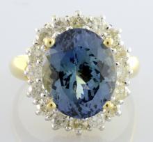 Tanzanite & Diamond Ring Appraised Value: $9,870