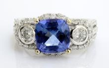Tanzanite & Diamond Ring Appraised Value: $6,350