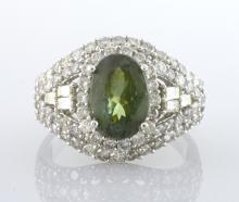 Alexandrite (2.48 ct) & Diamond Ring (GIA CERT.) AV: $41,610