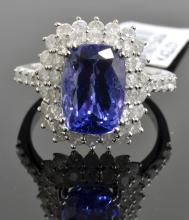 3.78 ct Tanzanite & Diamond Ring AV: $12,910