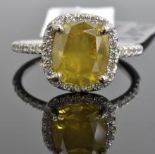 3.21 ct Yellow Diamond Ring AV: $22,925