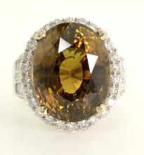 16.47 ct Alexandrite & Diamond Ring AV: $121,485
