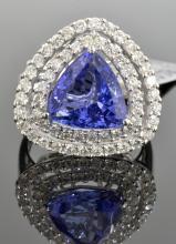Tanzanite & Diamond Ring Appraised Value: $13,115