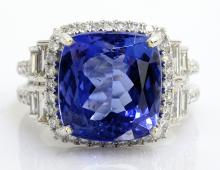 Tanzanite & Diamond Ring Appraised Value: $26,030