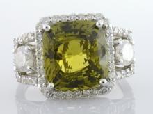 Alexandrite & Diamond Ring (GIA CERT.) AV: $33,875