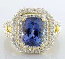 Tanzanite & Diamond Ring Appraised Value: $13,495
