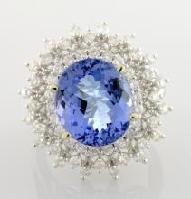 Tanzanite & Diamond Ring Appraised Value: $16,750