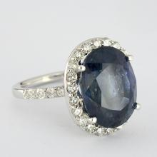UNHEATED 12.97ct Sapphire & Diamond Ring (GIA)