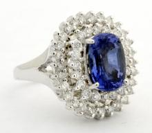 UNHEATED Sapphire & Diamond Ring (GIA CERTIFIED)