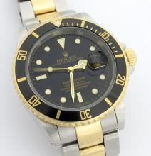Rolex Submariner Two-Tone Wristwatch *Signs of usage are visible*