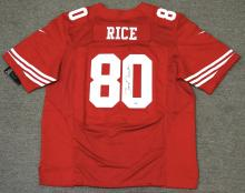 Jerry Rice Signed Football Jersey PSA DNA Certified (49'ers Size 52)