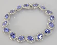 Tanzanite & Sapphire Bracelet
