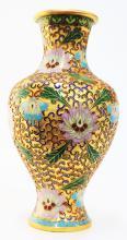 Gold Cloisonne Vase