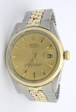 Rolex DateJust Two Tone Wristwatch