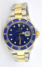 Rolex Blue Face Submariner Date Wristwatch