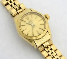 Rolex 14K Oyster Perpetual Wristwatch