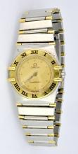 Omega Two Tone Constellation Ladies Watch