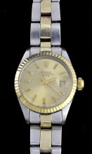 Rolex Two Tone Date Wristwatch