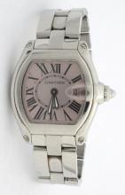 Cartier Roadster Pink Face Ladies Watch