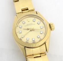 Rolex 18K Gold Ladies Wristwatch