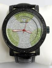 Diamond King Gray & Green Dots Watch