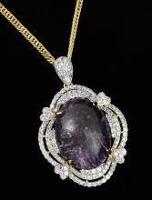 Star Ruby & Sapphire Necklace AV: $9,380