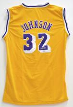 Magic Johnson Signed LA Basketball Jersey