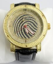 Diamond King Gold & Black Stripes Watch
