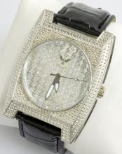 Diamond King Square Face Wristwatch