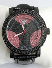 Diamond King Black & Red Dots Watch