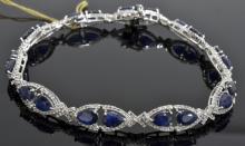 Sapphire & Topaz Bracelet