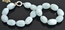 Aquamarine Bead Necklace Appraised Value: $5,251