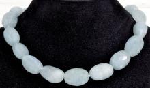 Aquamarine Bead Necklace Appraised Value: $4,906