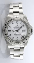 Men's Rolex Stainless Steel Explorer II Watch