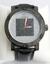 Diamond King Black Square Wristwatch