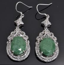 Emerald & Topaz Earrings Appraised Value: $3,480