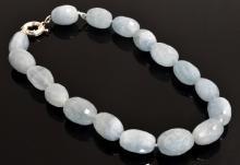 Aquamarine Bead Necklace Appraised Value: $4,809