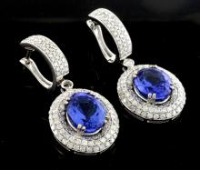 Tanzanite & Diamond Earrings AV: $26,445