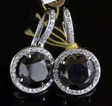 Black & White Dimaond Earrings AV: $13,510
